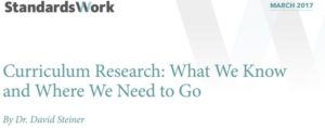 Curriculum Research: What We Know and Where We Need to Go, Executive Director David Steiner